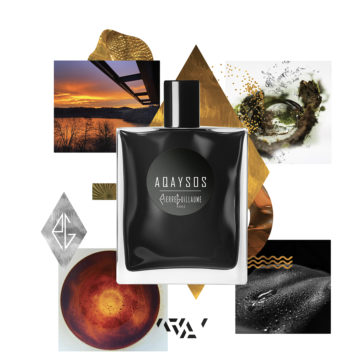 Pierre Guillaume Paris, Pierre Guillaume collection Noire, eaux de parfums contemporaines et graphique dans leur flacon noir Shadow.